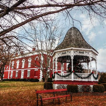 Iron County Courthouse and Gazebo by FrankieCat