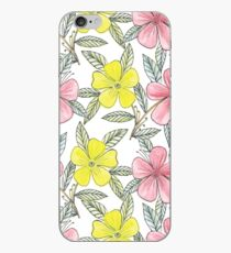 Hand painted flowers iPhone Case