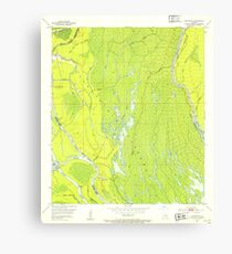 USGS TOPO Map Louisiana LA Cow Bayou 331765 1953 24000 Canvas Print