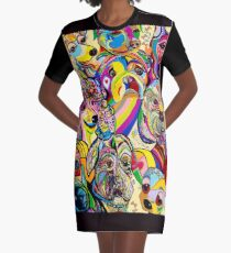Dogs, Dogs, DOGS! Graphic T-Shirt Dress