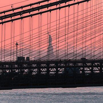 Statue of Liberty at sunset, New York by mattmacpherson