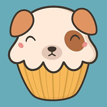 Delish Kawaii Cute Puppy Dog Cupcake  by happinessinatee
