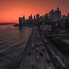 Lower Manhattan at sunset, New York by mattmacpherson