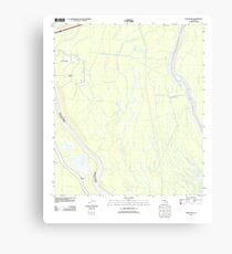 USGS TOPO Map Louisiana LA Cow Bayou 20120423 TM Canvas Print