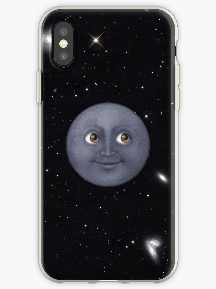 competitive price d7317 cebf2 'Moon Emoji in Space' iPhone Case by lasarack
