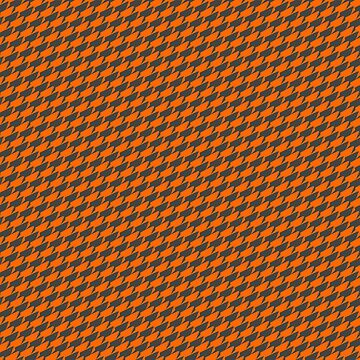 Sharkstooth Sharks Pattern Repeat in Grey and Orange by podartist