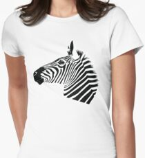 Zebra Head Womens Fitted T-Shirt