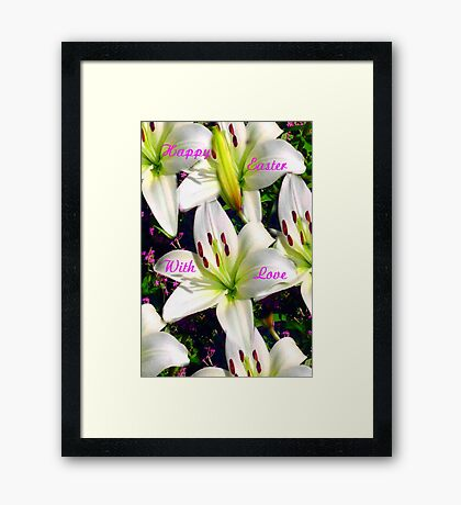 Easter Lilies,  Card Framed Print