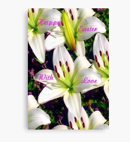 Easter Lilies,  Card Canvas Print