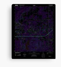 USGS TOPO Map Louisiana LA Eastwood 20120416 TM Inverted Canvas Print