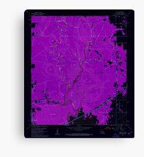 USGS TOPO Map Louisiana LA Echo 331905 1960 24000 Inverted Canvas Print