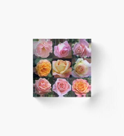 Rosen-Schönheits-Collage Acrylblock