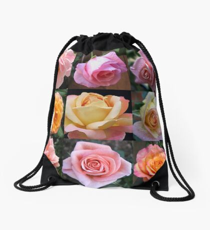Rosen-Schönheits-Collage Turnbeutel