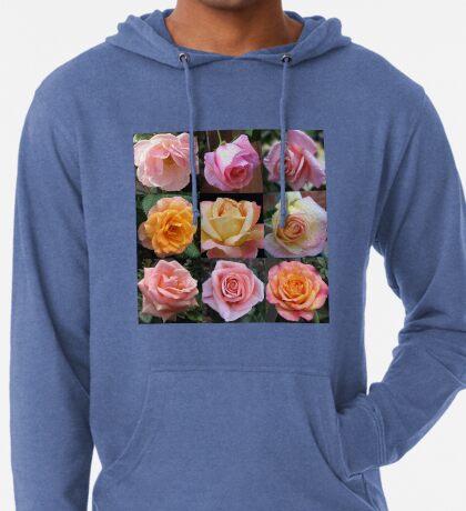 Rosen-Schönheits-Collage Leichter Hoodie