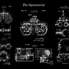 """""""The Optometrist"""" - Vintage Patent Prints Combo by MadebyDesign"""