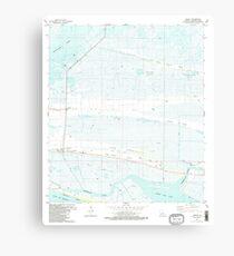USGS TOPO Map Louisiana LA Creole 331772 1982 24000 Canvas Print