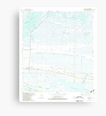 USGS TOPO Map Louisiana LA Creole 331773 1982 24000 Canvas Print