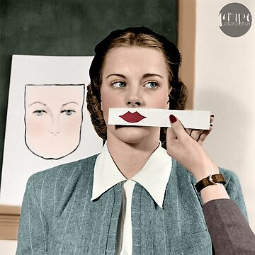 Lips - Stephens College, 1945 - Colorized by Laurynsworld
