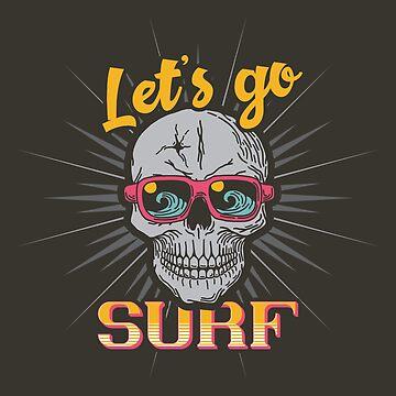 Surf Skull - Typo by Skullz23