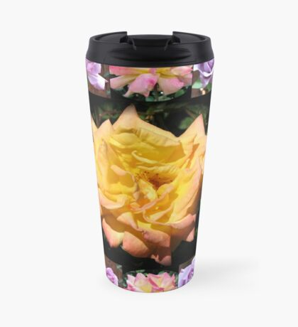 Sommer-Rosen-Collage Thermosbecher