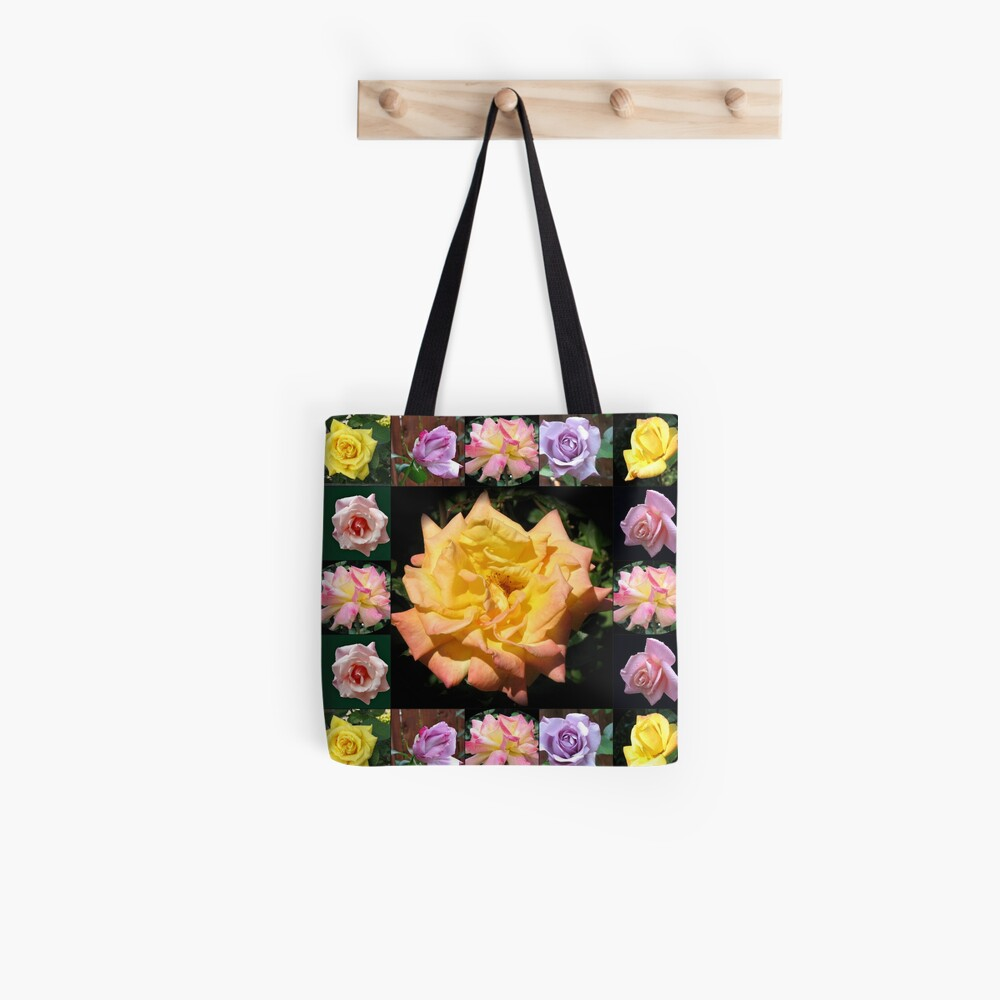 Sommer-Rosen-Collage Tote Bag
