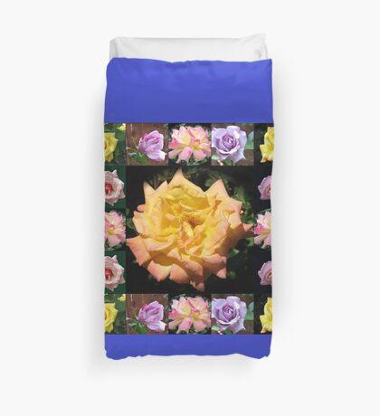 Sommer-Rosen-Collage Bettbezug