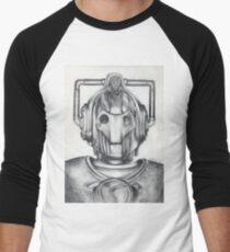Cyberman Pencil Drawing Men's Baseball ¾ T-Shirt
