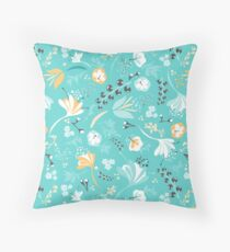 Beautiful Blooms in Blue and Yellow Floor Pillow