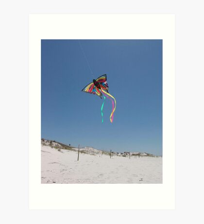 Butterfly Kite and Dunes Art Print