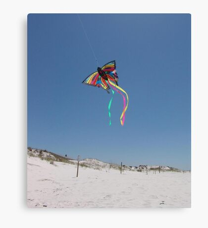 Butterfly Kite and Dunes Canvas Print