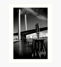 Bolte Bridge and warning lights Art Print