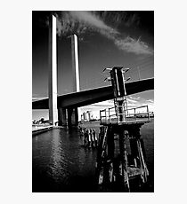 Bolte Bridge and warning lights Photographic Print