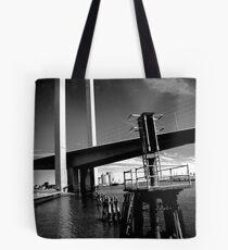Bolte Bridge and warning lights Tote Bag