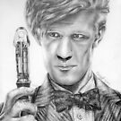 Matt Smith Portrait - 11th Doctor by Chris Neal