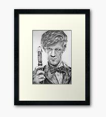 Matt Smith Portrait - 11th Doctor Framed Print