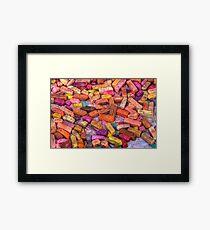 Pastel Chalks- earth tones Framed Print