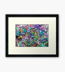 Pastel Chalks- sea tones Framed Print