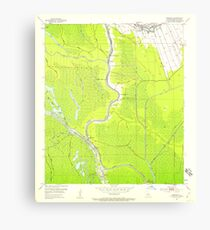 USGS TOPO Map Louisiana LA Crescent 331775 1953 24000 Canvas Print
