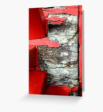 red wheels ( old carriage #2) Greeting Card