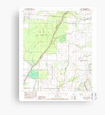 USGS TOPO Map Louisiana LA Crew Lake 331776 1982 24000 Canvas Print