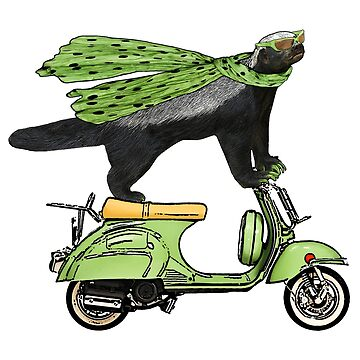 Honey Badger on Vespa by SirLeeTees