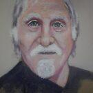 Acrylic self portrait by Richard  Tuvey