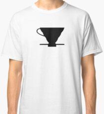 Camiseta clásica Cafetera Hario V60 de diseño.