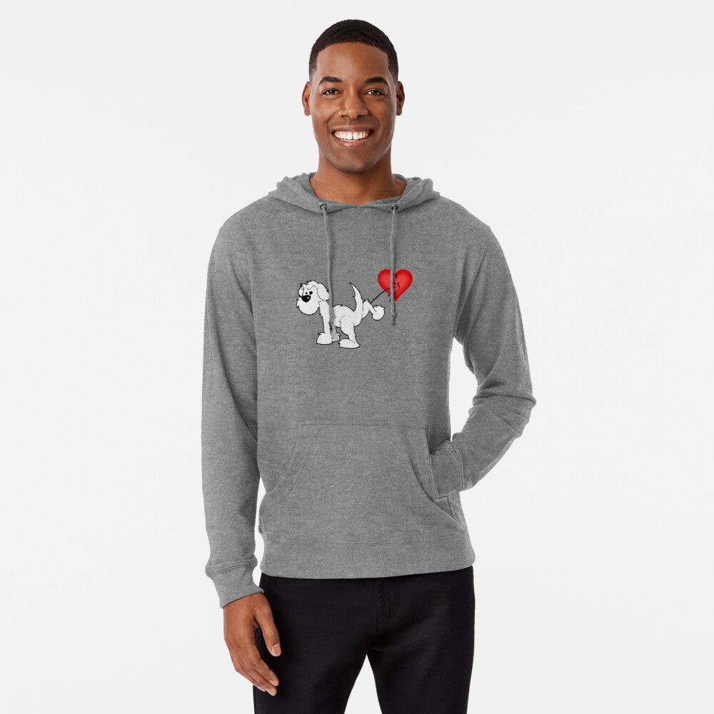 DOG - at least the dog likes me ! Lightweight Hoodie