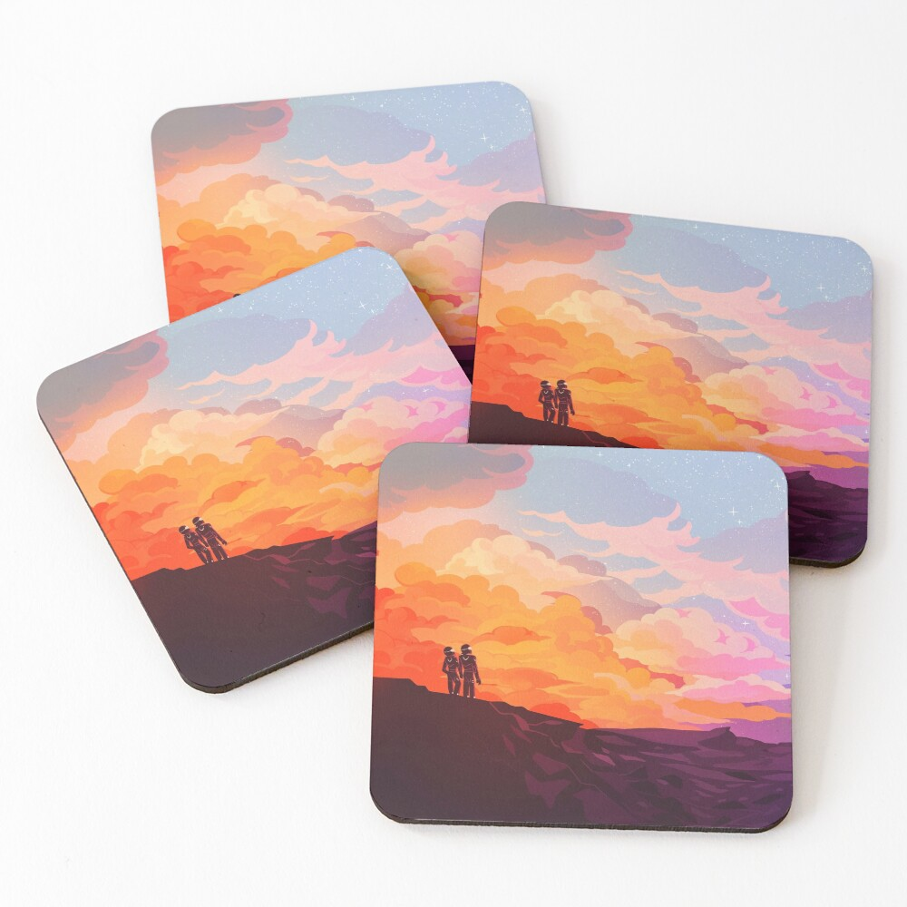 Star Down Coasters (Set of 4)