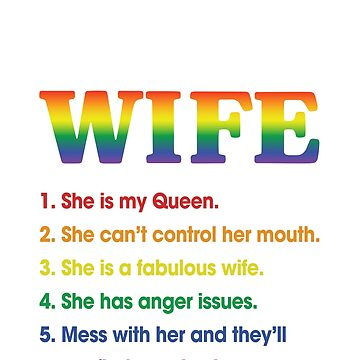 5 Things You Should Know About My Wife Funny LGBT Shirt by liuxy071195