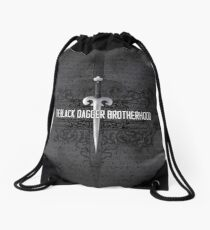 The Black Dagger Brotherhood  [white text] Drawstring Bag