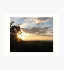 """Sunset in """"da U.P."""" Art Print"""