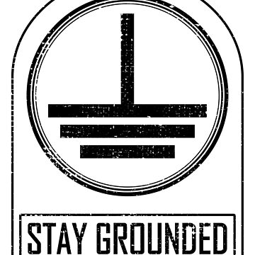stay grounded electrician craftsman funny gift by Donsanoj