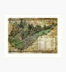 City of Boldhome Map by Olivier Sanfilippo Art Print